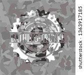 bathing trunks on grey camo... | Shutterstock .eps vector #1363917185