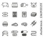 pork and meat products icon set ... | Shutterstock .eps vector #1363920155