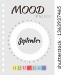 mood diary for a month. mood... | Shutterstock .eps vector #1363937465