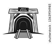 Tunnel With Railway Or Entranc...