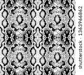 snake skin scales texture.... | Shutterstock .eps vector #1363966862