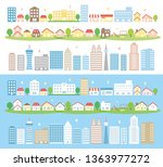 residential area and office... | Shutterstock .eps vector #1363977272