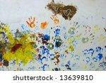 artwork of children finger... | Shutterstock . vector #13639810