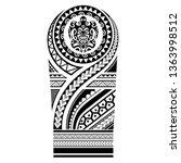 tribal tattoo polynesian... | Shutterstock .eps vector #1363998512