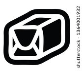 wrapped parcel icon symbol | Shutterstock . vector #1364001932