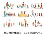 bundle of preschool or... | Shutterstock . vector #1364009042