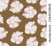 pattern of spring doodle flower ... | Shutterstock .eps vector #1364010848