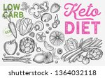 ketogenic diet vegetables... | Shutterstock .eps vector #1364032118