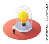 3d isometric businessman... | Shutterstock .eps vector #1364040335