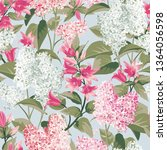 spring flowers. white and pink... | Shutterstock .eps vector #1364056598