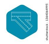 turn road icon. outline... | Shutterstock .eps vector #1364064995