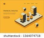 isometric icon of financial...