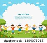 children's activities. happy...   Shutterstock .eps vector #1364078015