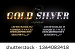 silver and gold serif font and... | Shutterstock .eps vector #1364083418
