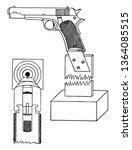 pistol sighting rest for the... | Shutterstock .eps vector #1364085515