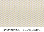 gold and white honey hexagonal... | Shutterstock .eps vector #1364103398