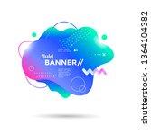 creative design fluid banner...   Shutterstock .eps vector #1364104382