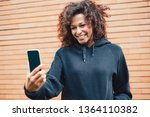 smiling afro american woman... | Shutterstock . vector #1364110382