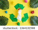 green triangular eco recycle... | Shutterstock . vector #1364132588