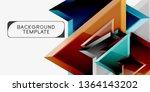 geometric minimal design...   Shutterstock .eps vector #1364143202