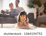 in living room couple resting... | Shutterstock . vector #1364154752
