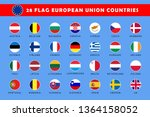 round flag of europe countries... | Shutterstock .eps vector #1364158052