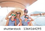 happy family with children...   Shutterstock . vector #1364164295