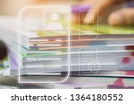 document report and business...   Shutterstock . vector #1364180552