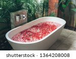 interior details with bathtub... | Shutterstock . vector #1364208008