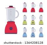 blender set  electric mixing... | Shutterstock .eps vector #1364208128