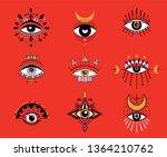 the mystical eye | Shutterstock .eps vector #1364210762