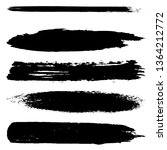 collection of vector brush... | Shutterstock .eps vector #1364212772