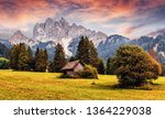 awesome alpine highlands during ... | Shutterstock . vector #1364229038