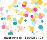 memphis round confetti airy... | Shutterstock .eps vector #1364253425