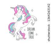 glitter unicorn drawing for t...   Shutterstock .eps vector #1364263142