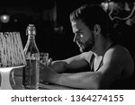 taking beer really seriously.... | Shutterstock . vector #1364274155