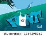 font presentation template....   Shutterstock .eps vector #1364298362