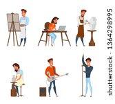 creative jobs  careers flat... | Shutterstock .eps vector #1364298995