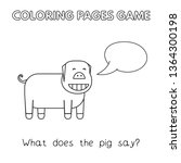 funny pig kids learning game.... | Shutterstock . vector #1364300198