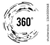angle 360 degrees sign icon.... | Shutterstock .eps vector #1364300468