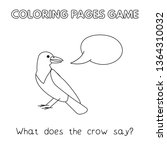 funny crow kids learning game.... | Shutterstock . vector #1364310032