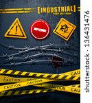 industrial grunge elements set. | Shutterstock . vector #136431476