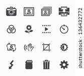 photography icons and camera... | Shutterstock .eps vector #136432772