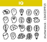 iq  intellect linear vector... | Shutterstock .eps vector #1364339915