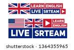 live stream. flat design...