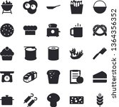 solid vector icon set  ... | Shutterstock .eps vector #1364356352