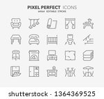 thin line icons set of... | Shutterstock .eps vector #1364369525