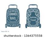 travel bag vector .handwritten...   Shutterstock .eps vector #1364375558