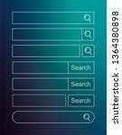 set of search bar. vector...