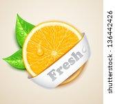fresh orange - stock vector